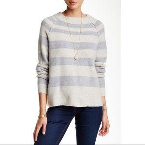NWTA FREE PEOPLE Ivory/Grey Striped Sweater